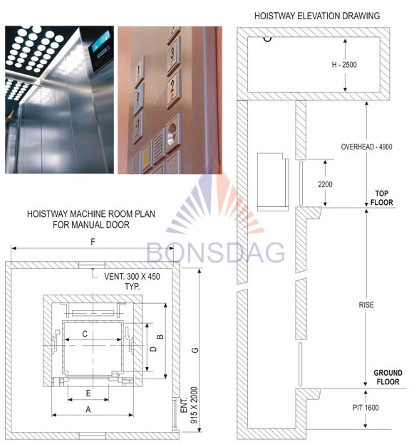 Passenger Elevator (Manual Door) architecture