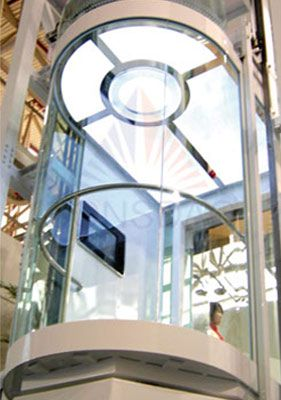 Round glass cabin  Elevators