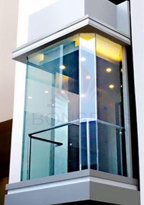 squre glass cabin  Elevators